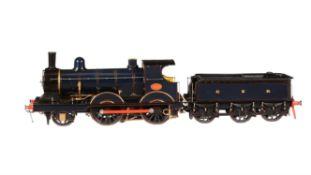 An exhibition model of a 5 inch gauge Great Eastern Region class T26 2-4-0 tender locomotive