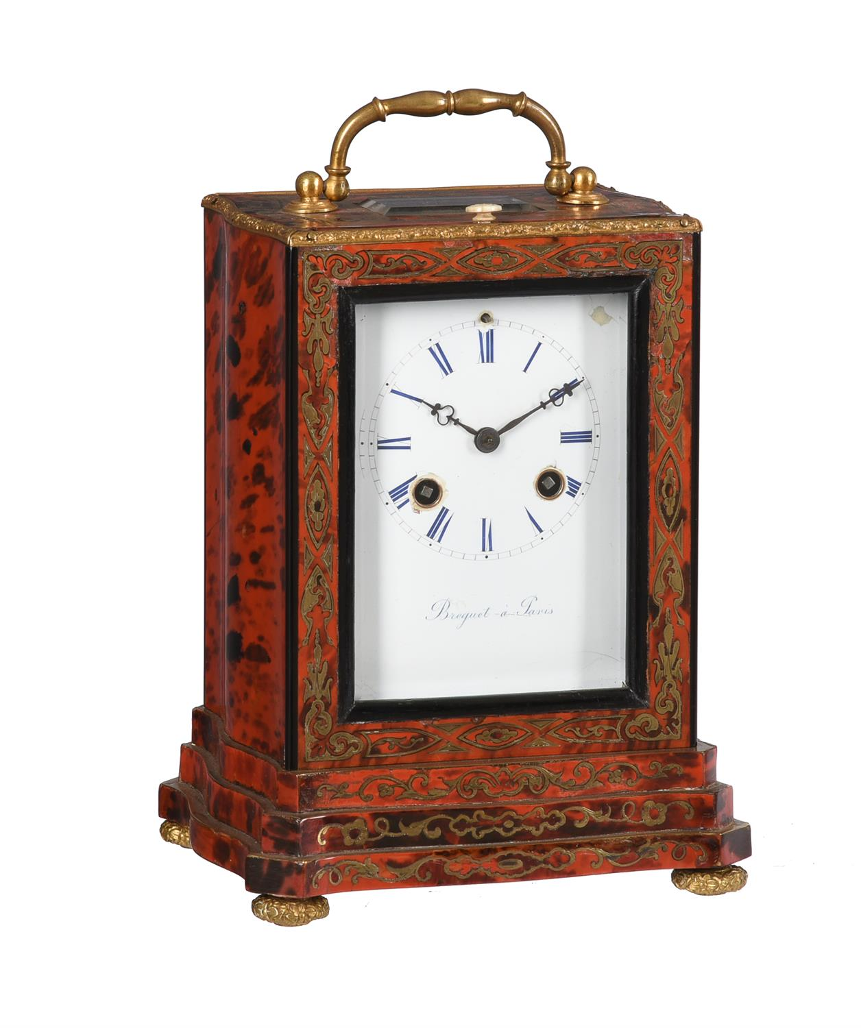 A French Louis Philippe boulle mantel clock