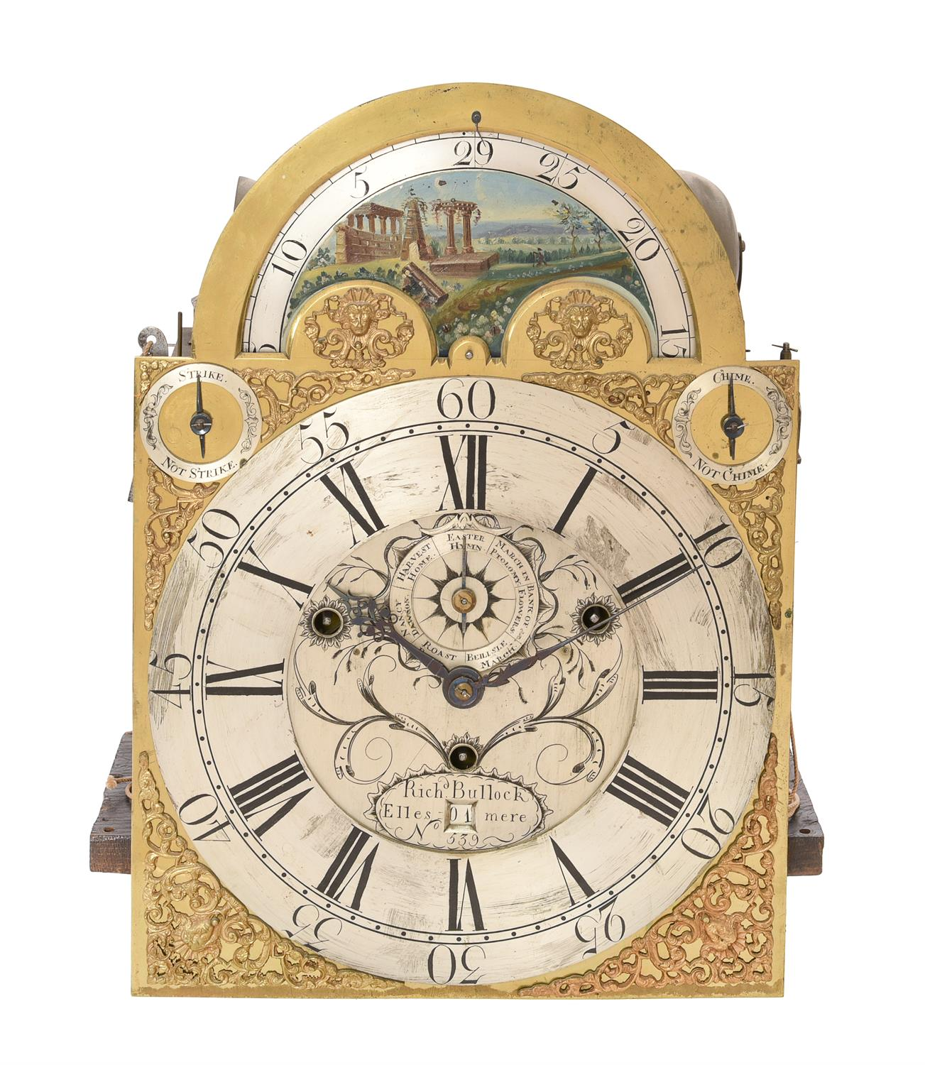 An impressive George III eight-day musical longcase clock with moonphase, Richard Bullock - Image 5 of 5