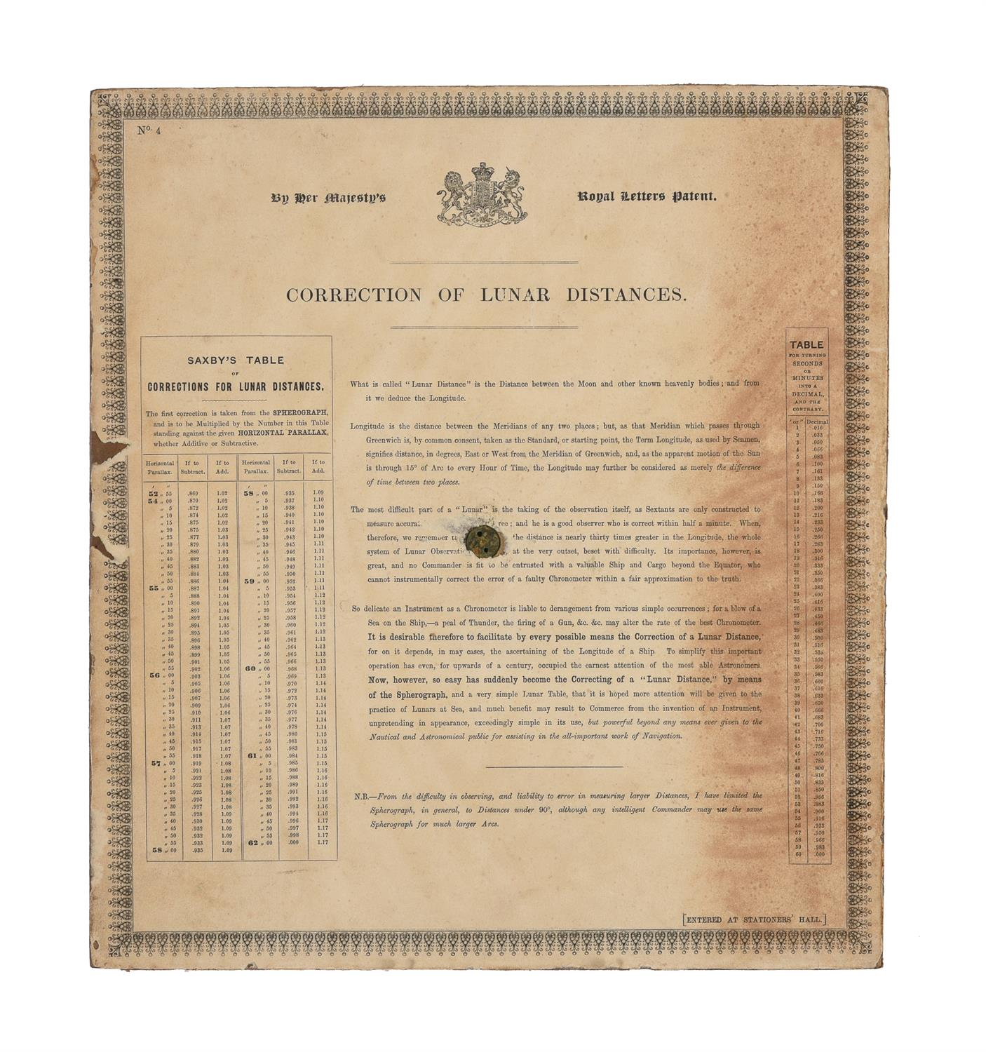 A rare group of 'Saxby's patent spherograph' marine navigational error calculator panels - Image 14 of 19