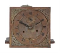 A William and Mary eight-day longcase clock movement with 10 inch dial