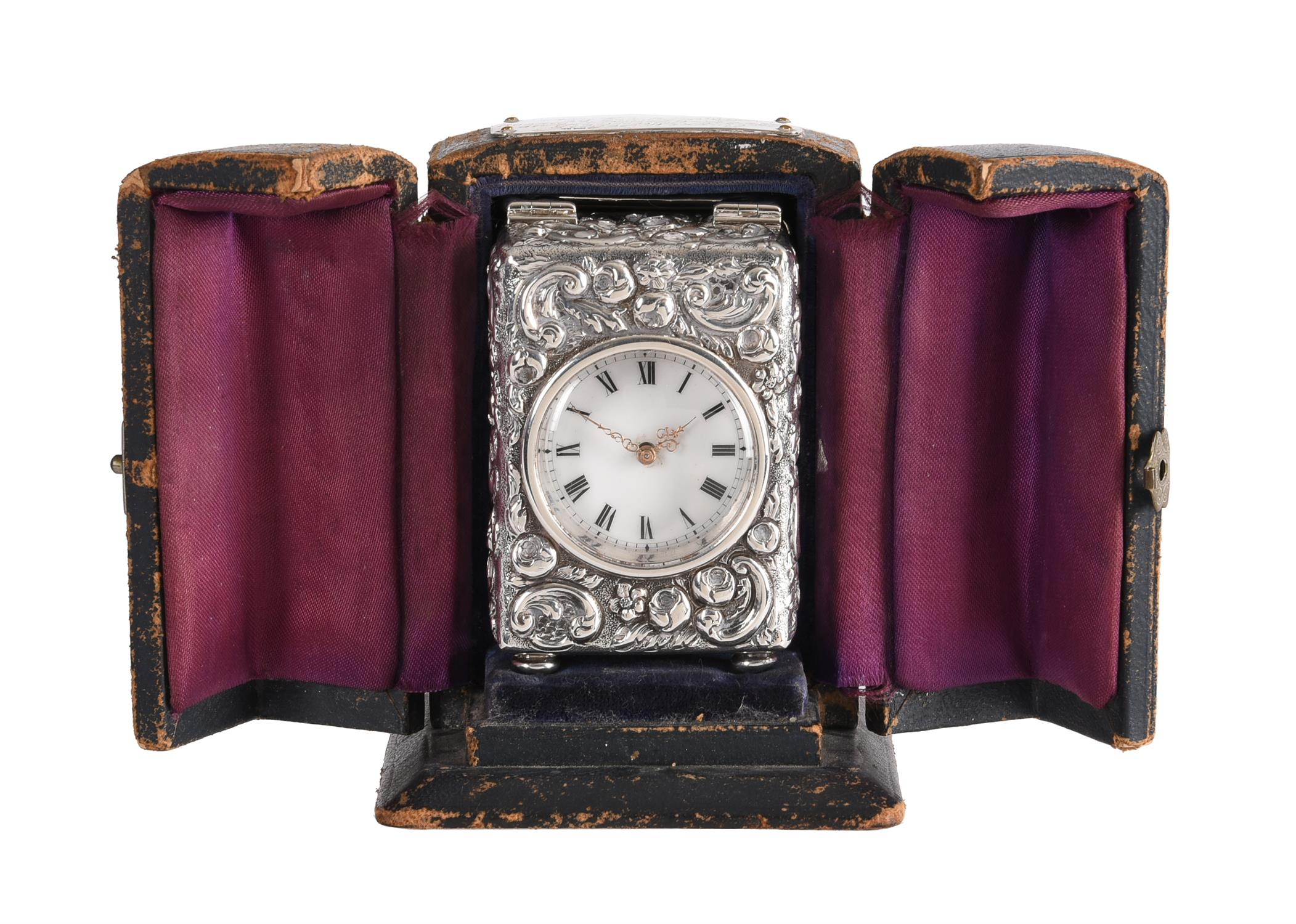 A Victorian silver cased miniature carriage timepiece - Image 4 of 6