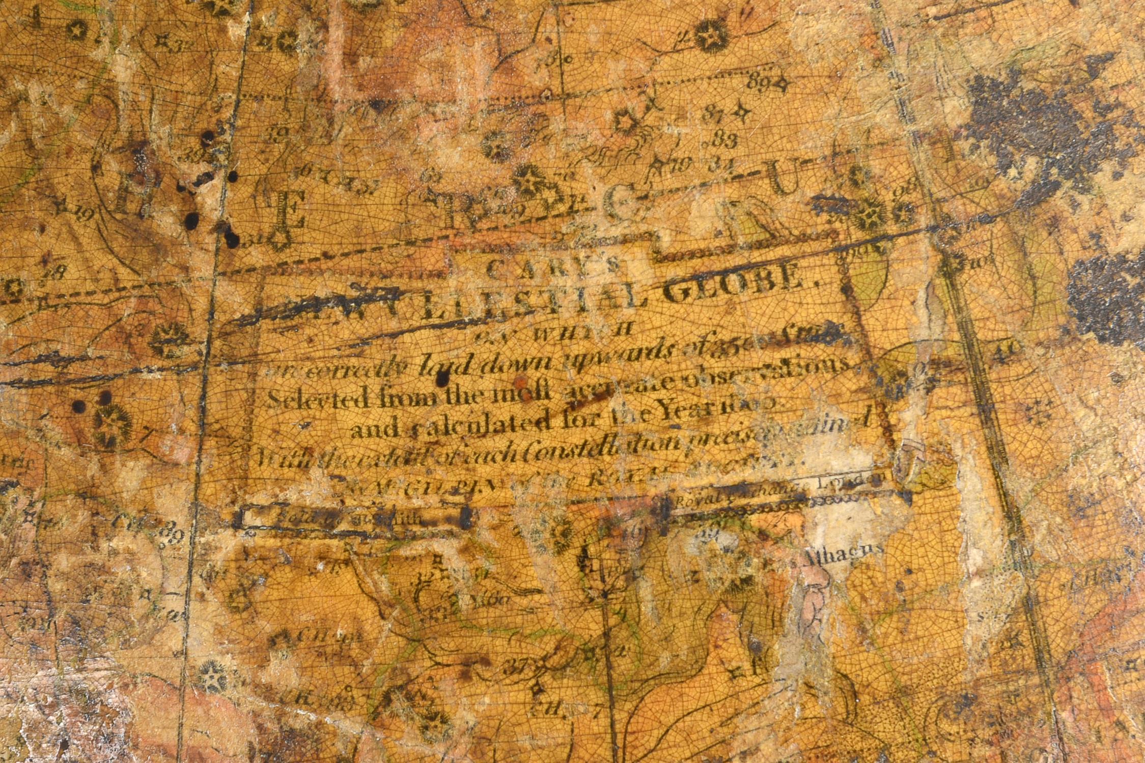 A Regency twelve inch celestial library table globe - Image 2 of 2