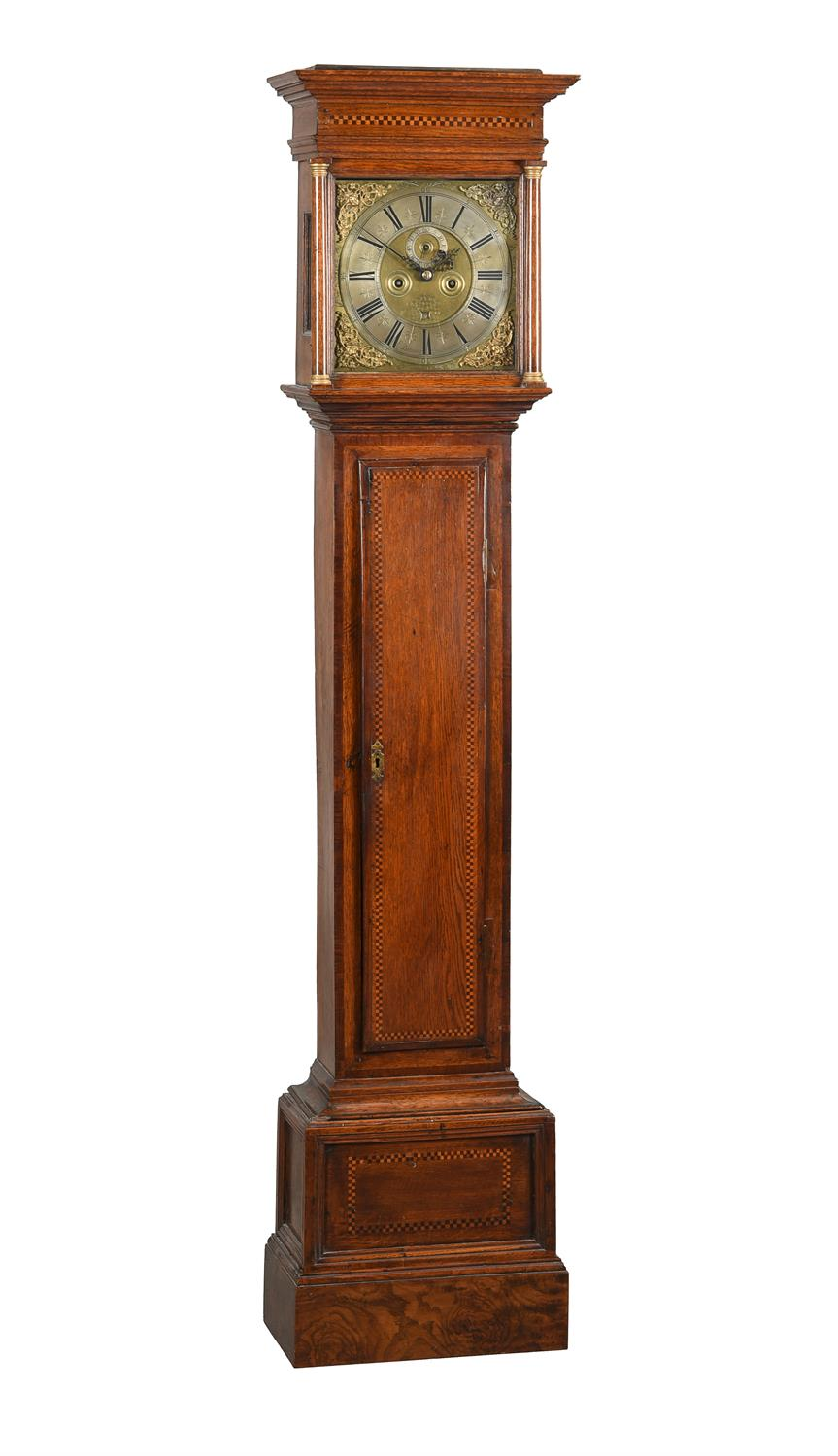 A William III provincial longcase clock movement with 11 inch dial