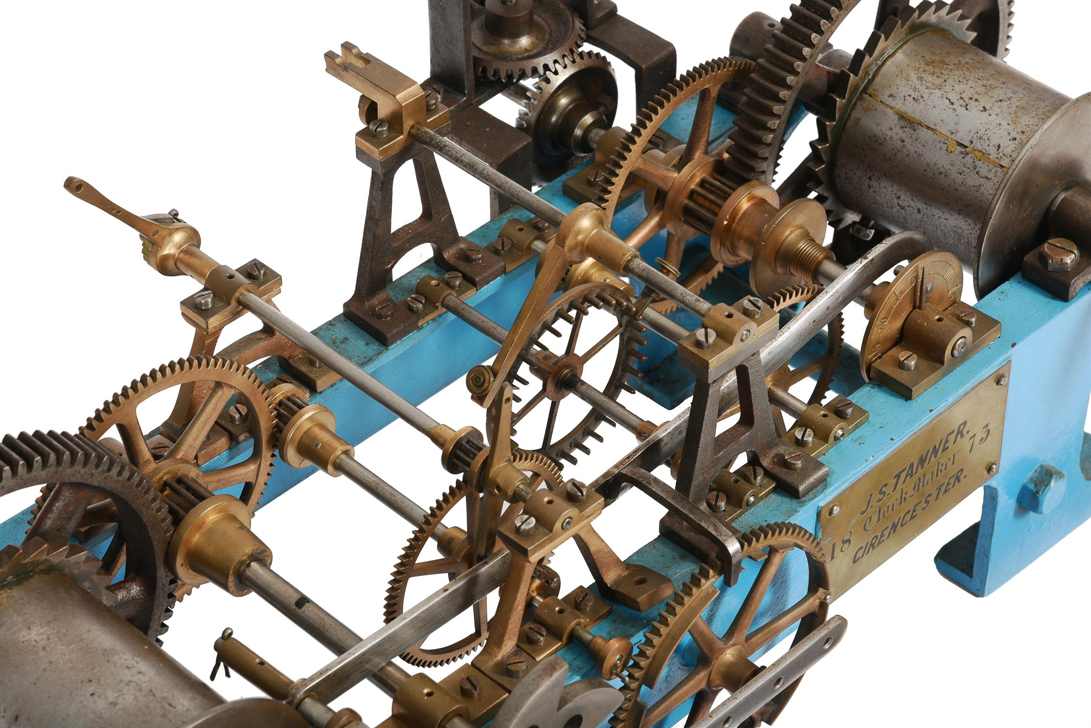 A Victorian cast iron, brass and steel turret clock movement - Image 3 of 5