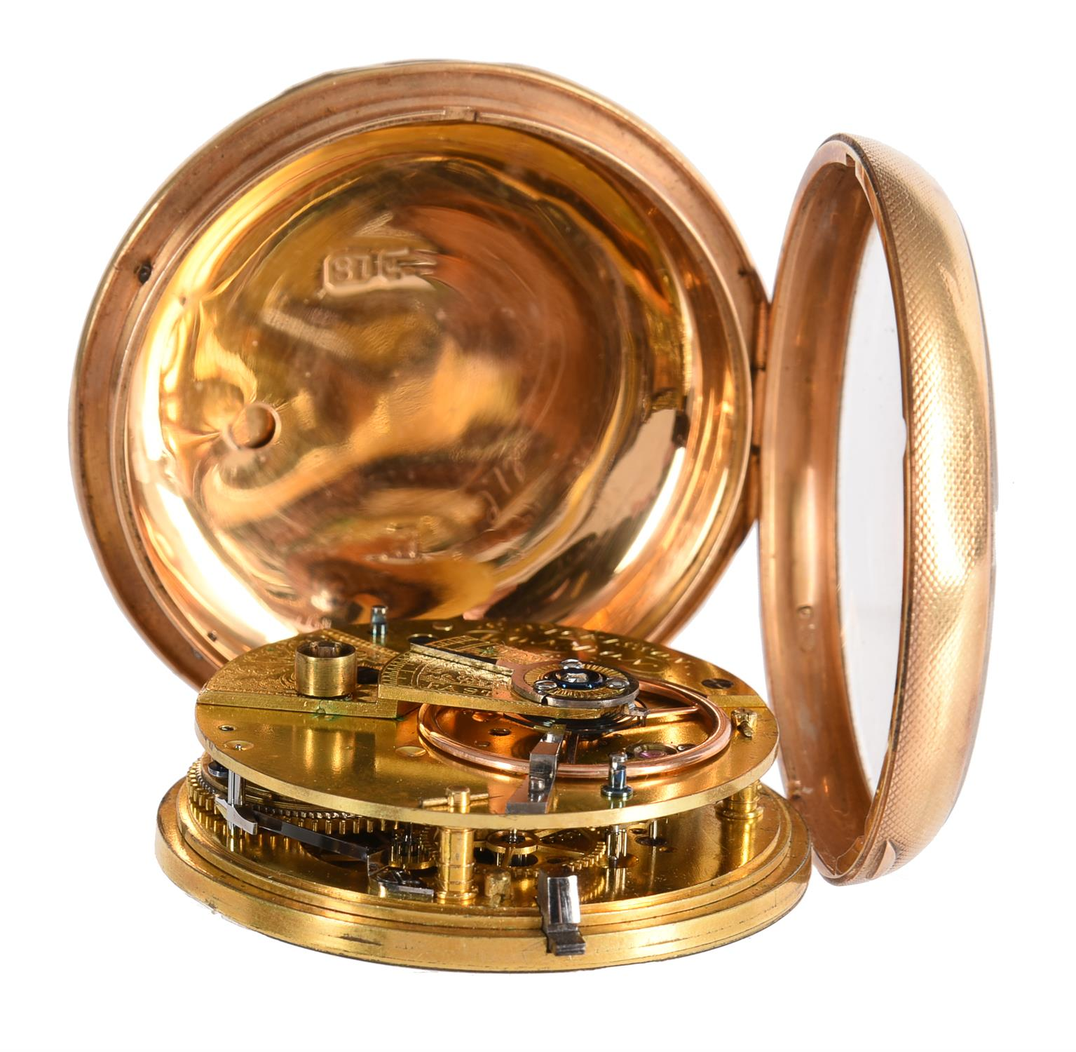 A Regency 18ct gold open-faced lever pocket watch - Image 3 of 3