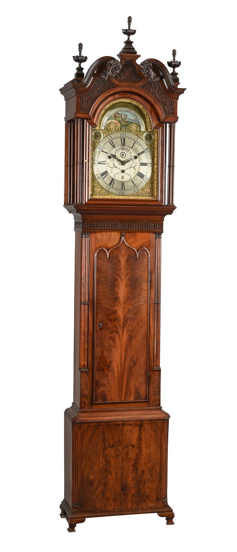 An impressive George III eight-day musical longcase clock with moonphase, Richard Bullock