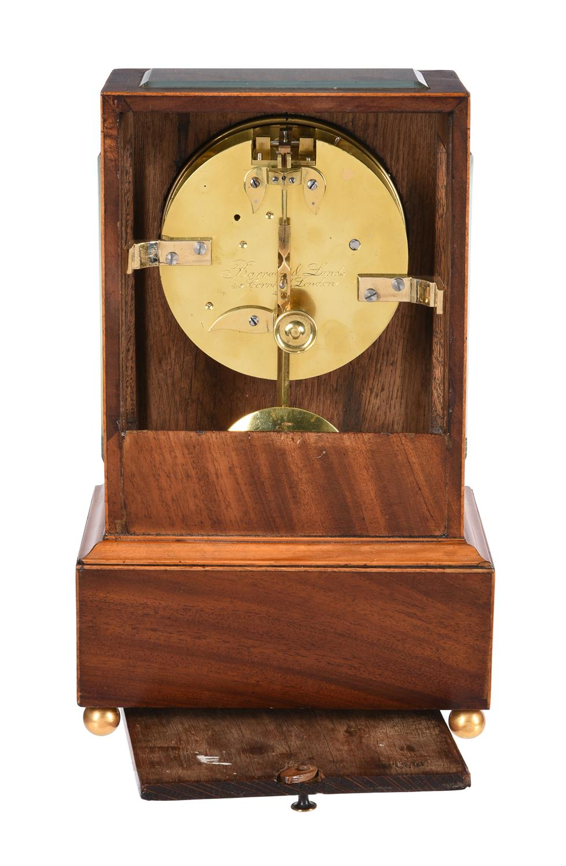 An inlaid mahogany mantel timepiece - Image 3 of 3