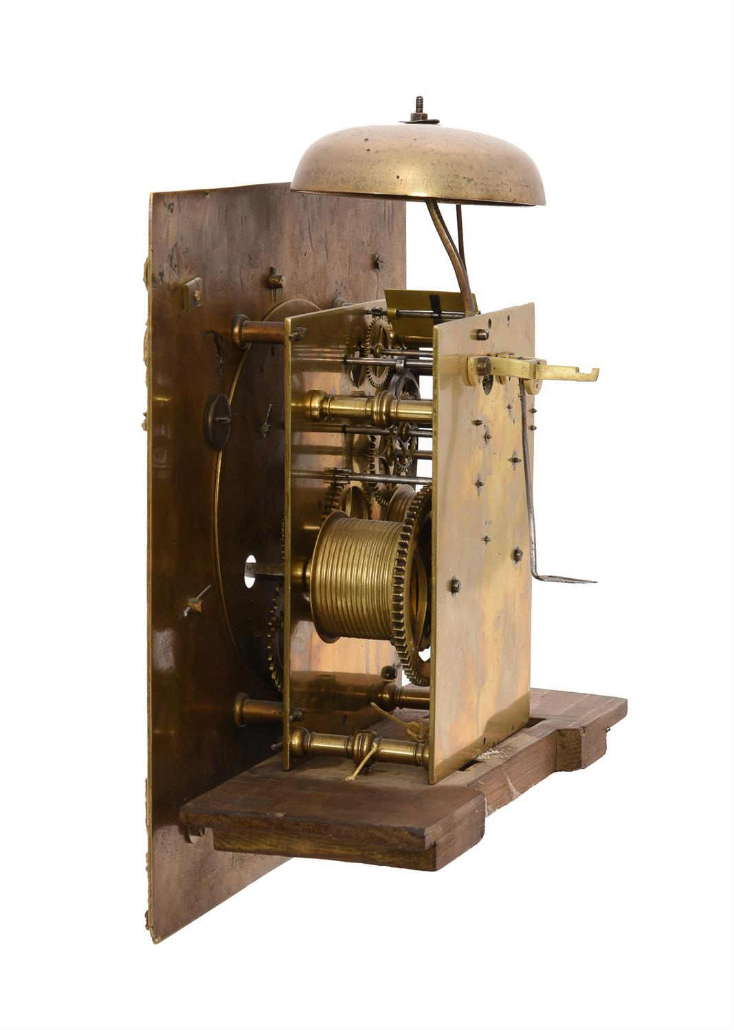 A William III provincial longcase clock movement with 11 inch dial - Image 3 of 4
