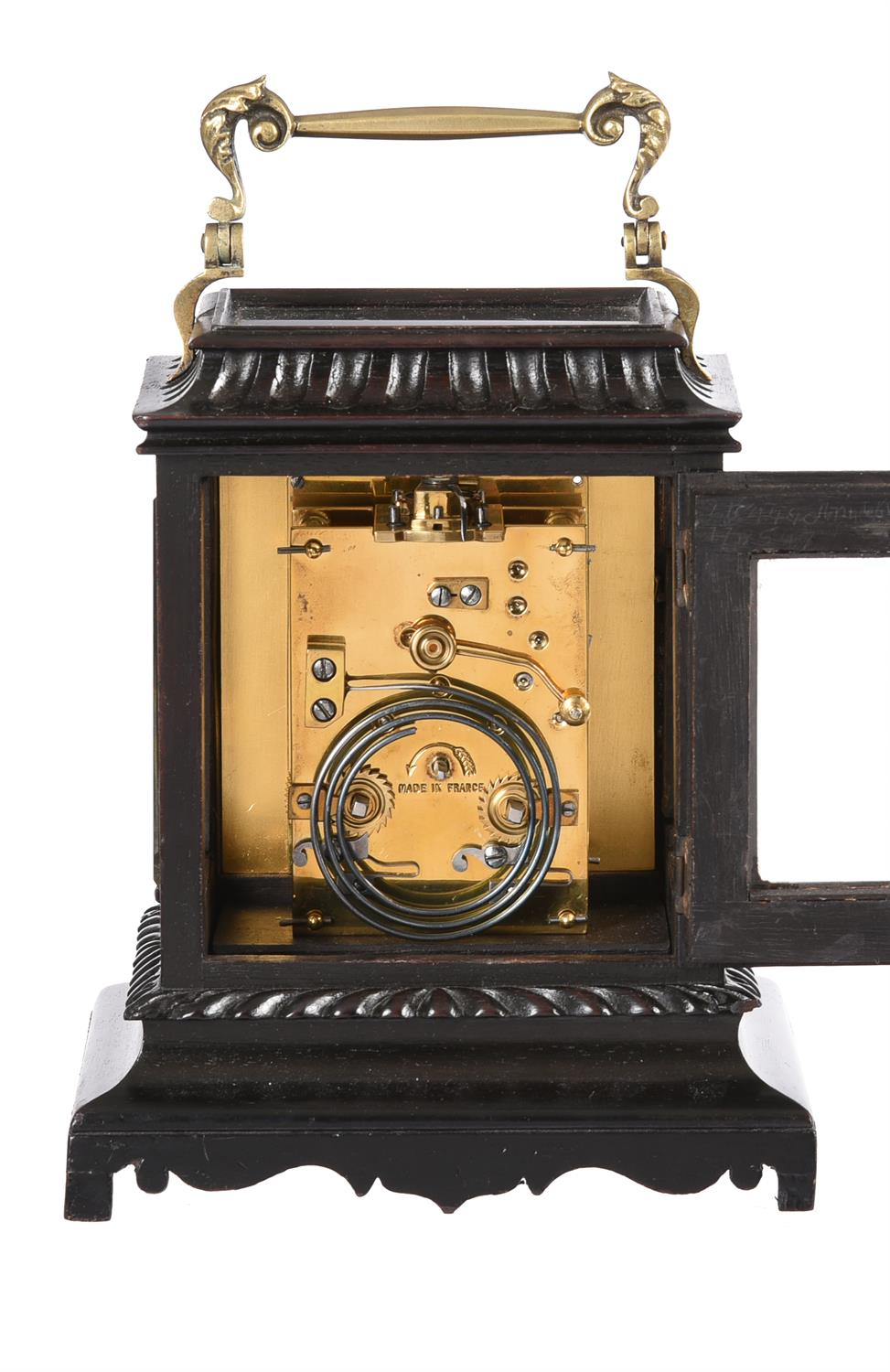 An ebonised carriage clock - Image 2 of 2