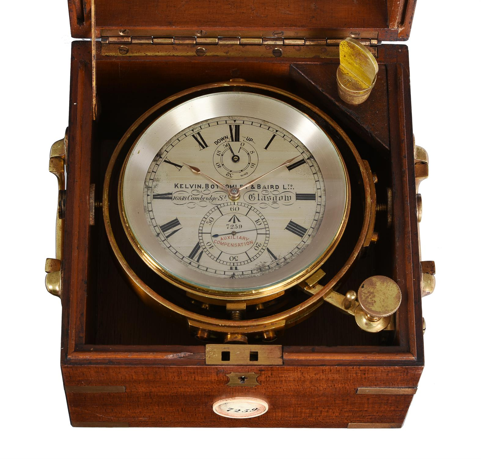 A George V mahogany two-day marine chronometer - Image 2 of 5
