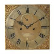 A George III eight-day longcase clock movement and dial