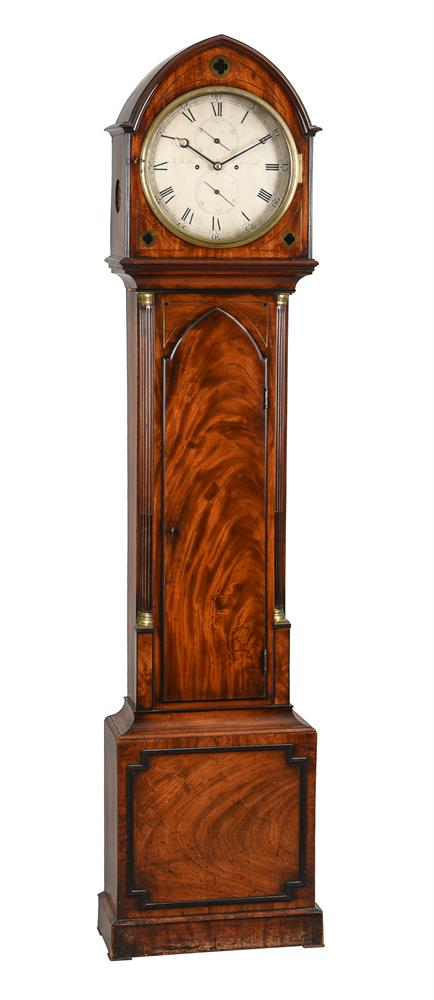 A Scottish Regency brass inlaid mahogany eight-day longcase clock, J. and W. Howden