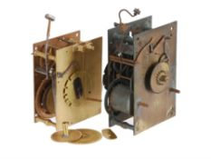 The remnants of a Charles II month-duration longcase clock movement