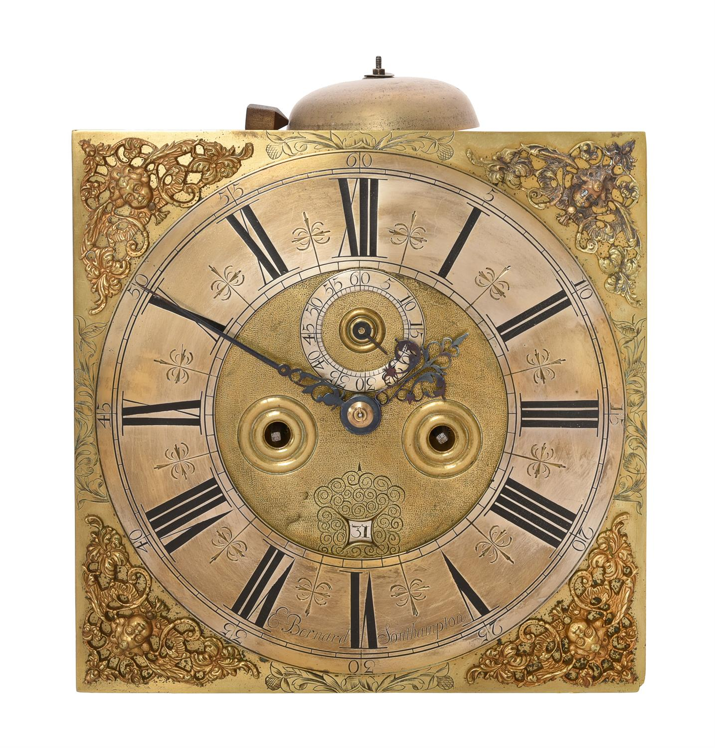 A William III provincial longcase clock movement with 11 inch dial - Image 4 of 4