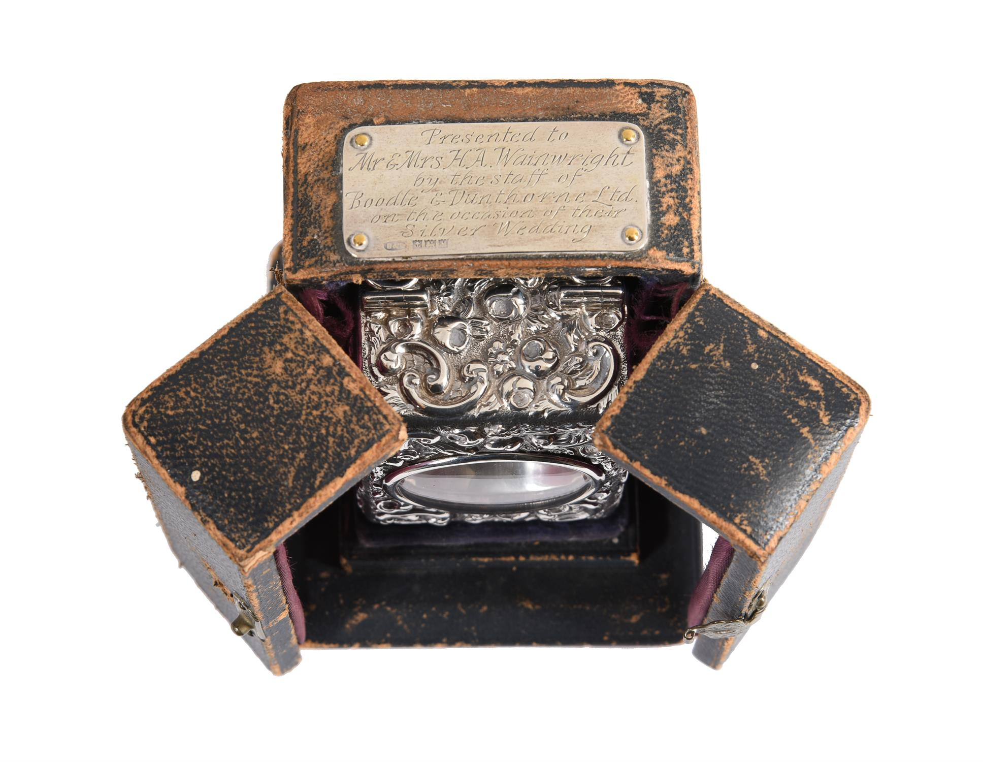 A Victorian silver cased miniature carriage timepiece - Image 5 of 6