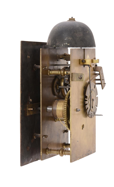 A fine and very rare Charles II walnut hooded wall clock, Nathanial Barrow - Image 4 of 5