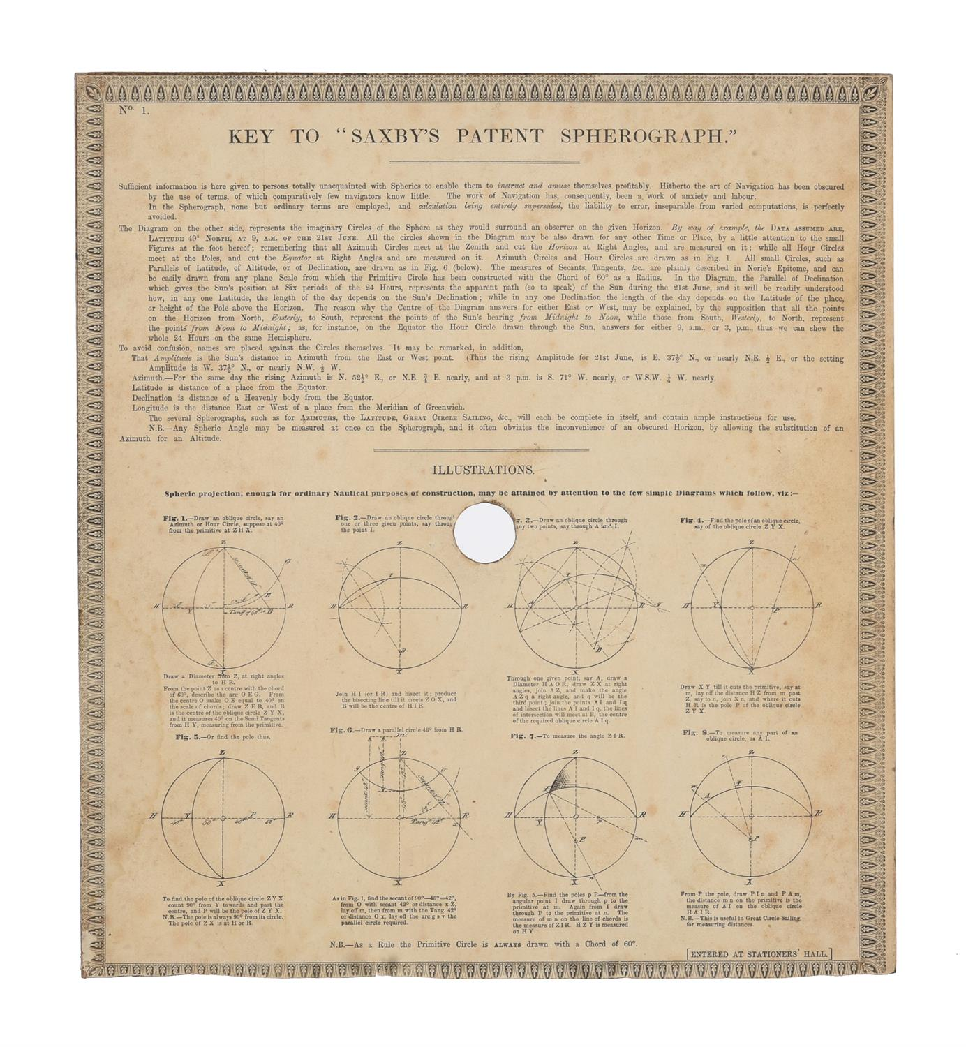 A rare group of 'Saxby's patent spherograph' marine navigational error calculator panels - Image 9 of 19