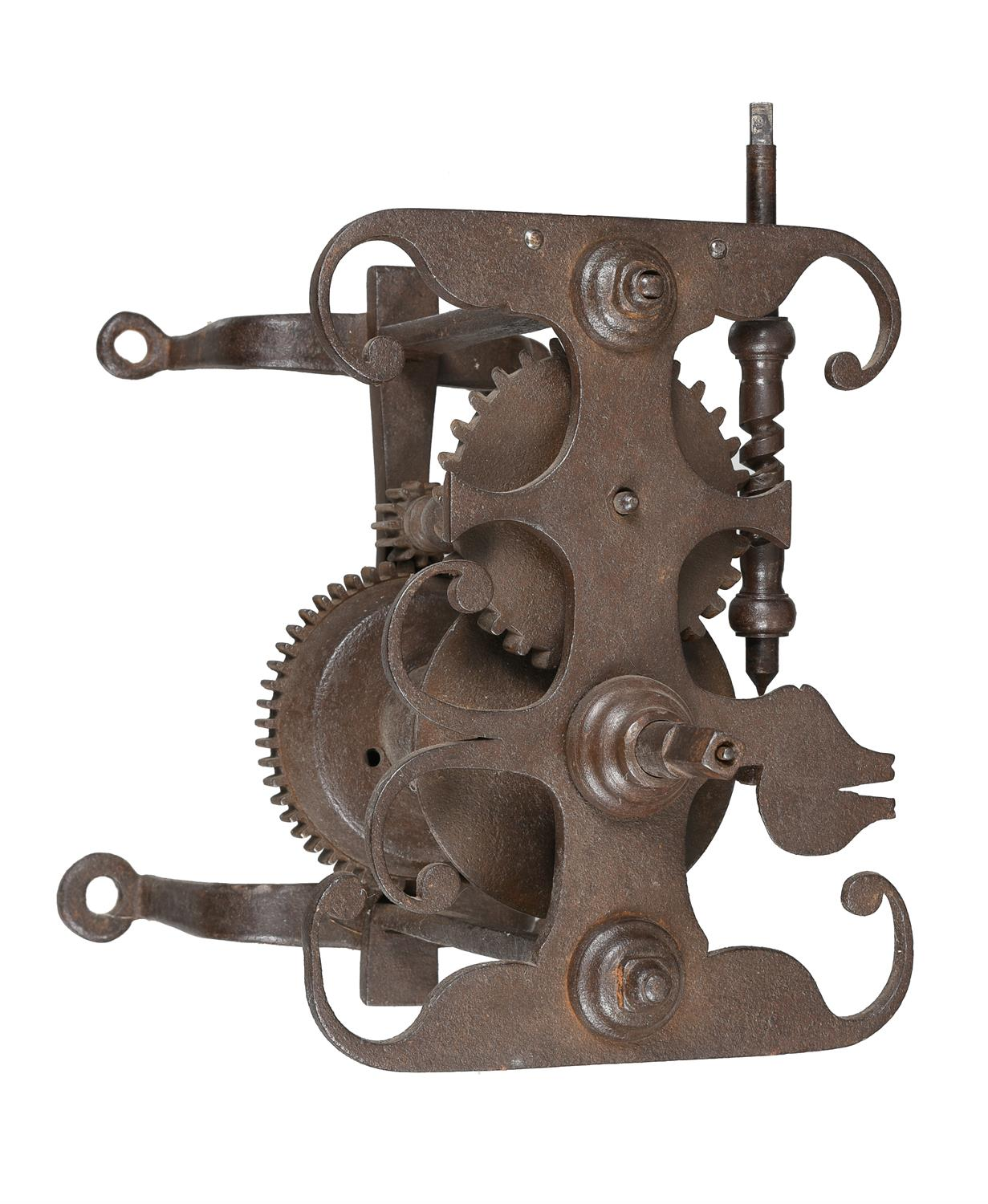 A rare George III forged iron and steel weight-driven spit roasting jack - Image 2 of 2