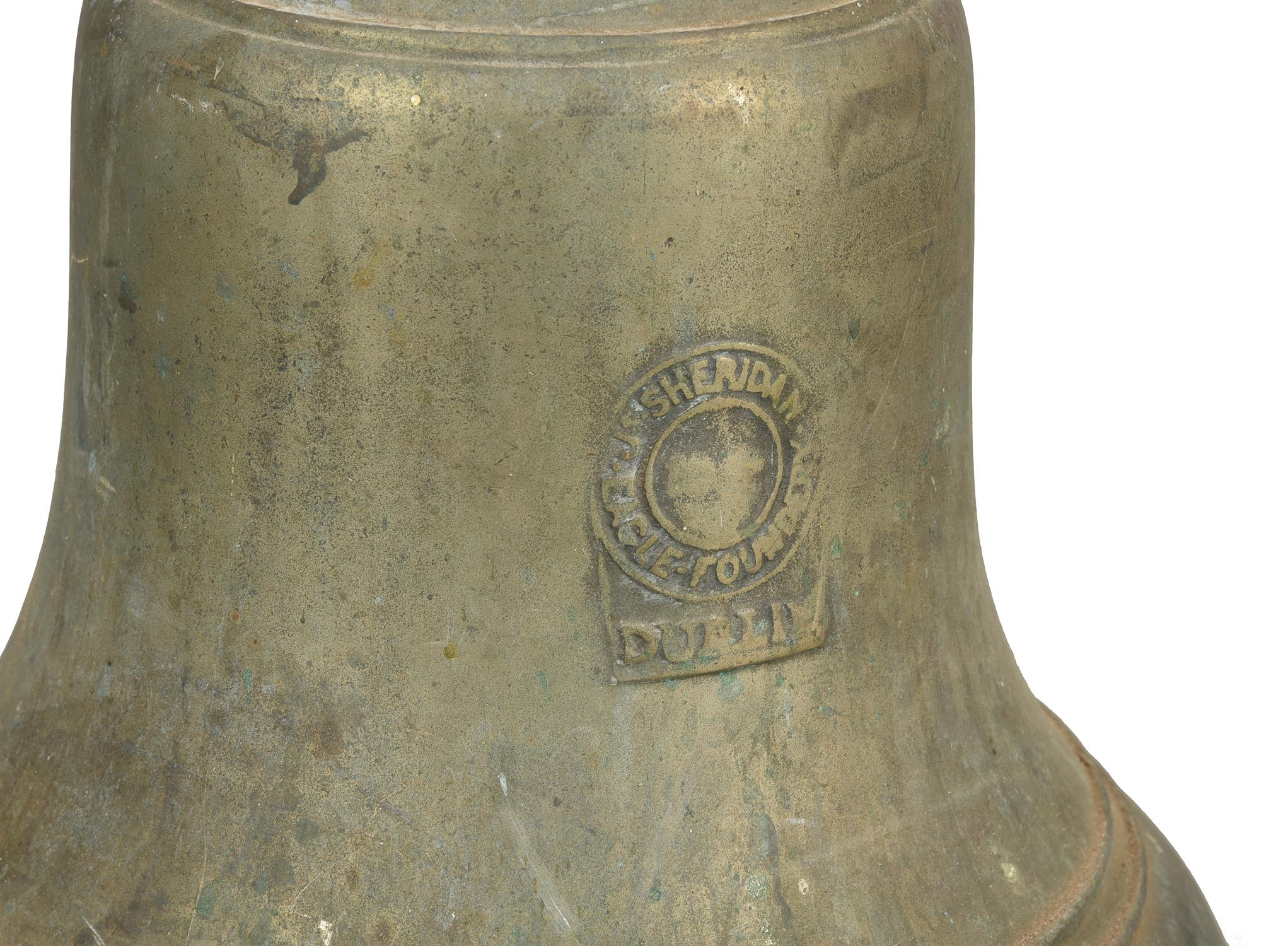 An Irish cast brass bell - Image 2 of 4