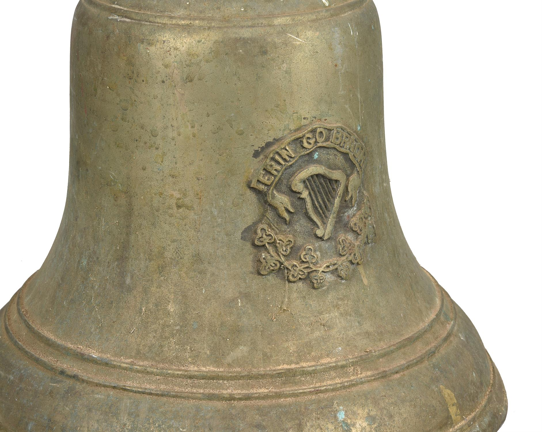 An Irish cast brass bell - Image 4 of 4