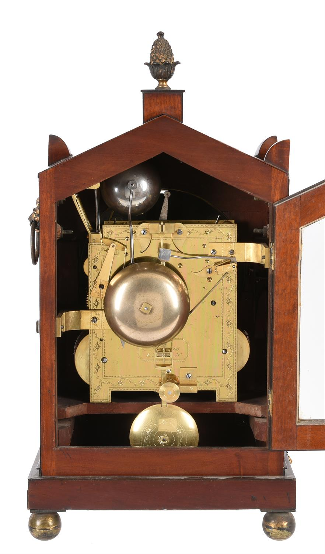 A Regency brass inlaid mahogany quarter-chiming bracket clock - Image 2 of 2