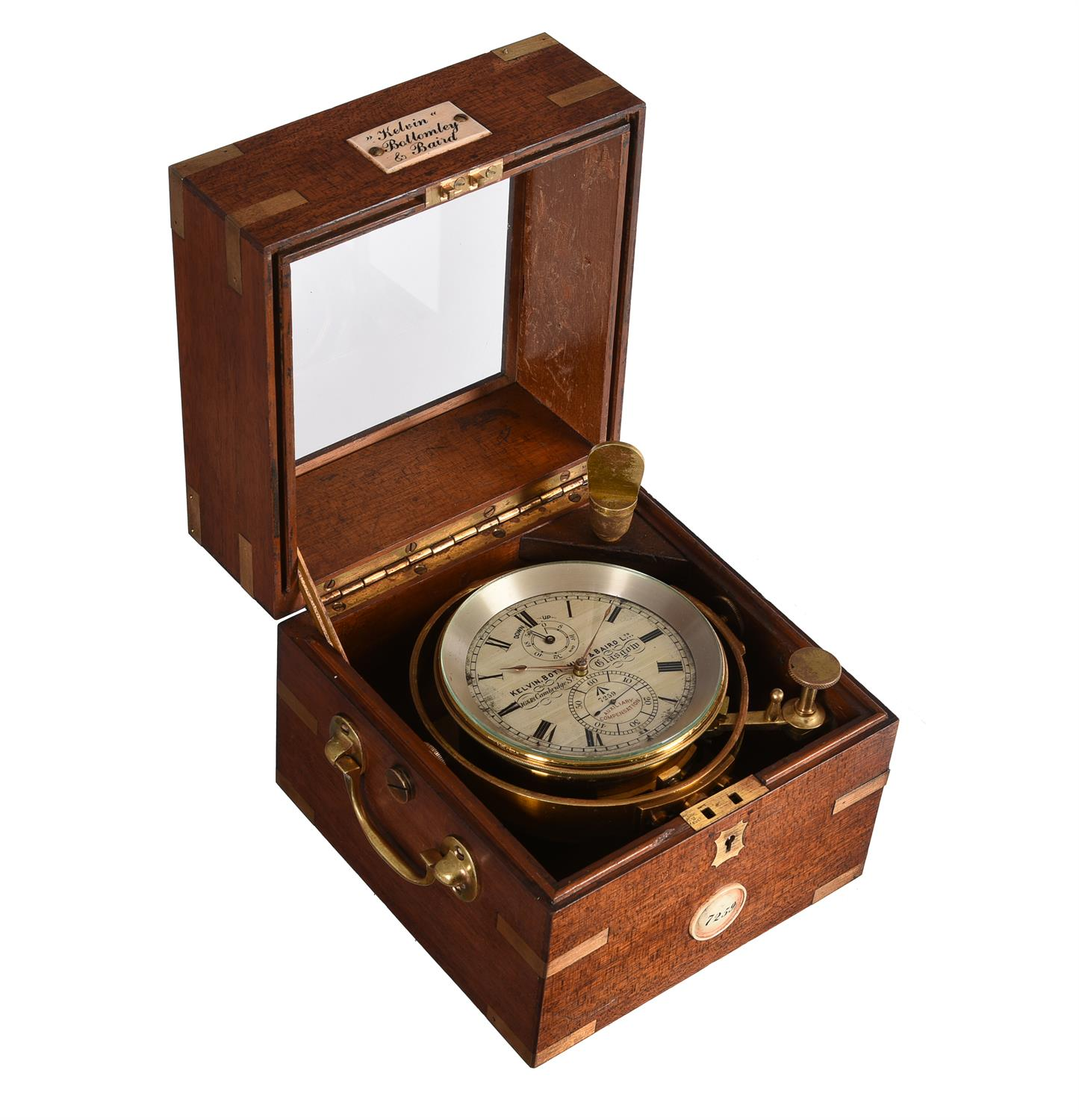 A George V mahogany two-day marine chronometer