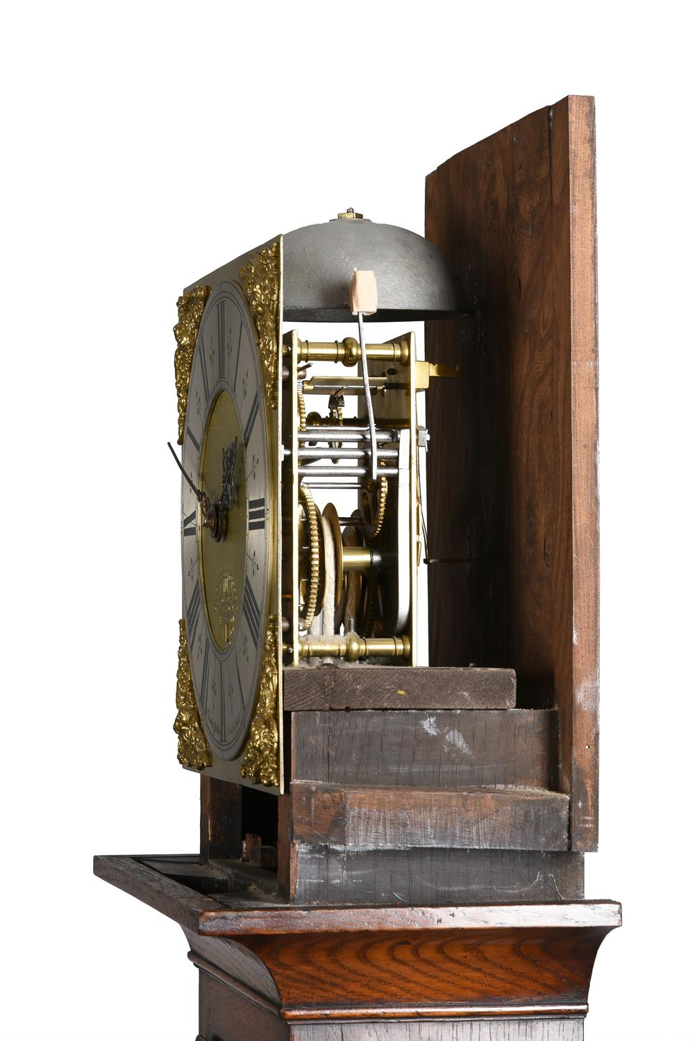 An oak cased thirty-hour longcase clock - Image 3 of 4