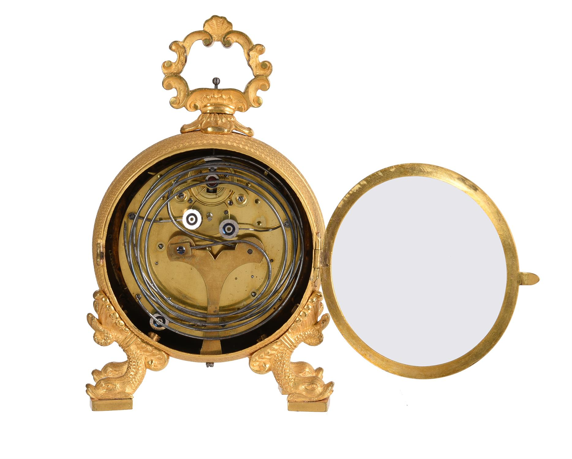 An Austrian ormolu cased grande-sonnerie striking 'Pendule d'Officier' with alarm - Image 2 of 2
