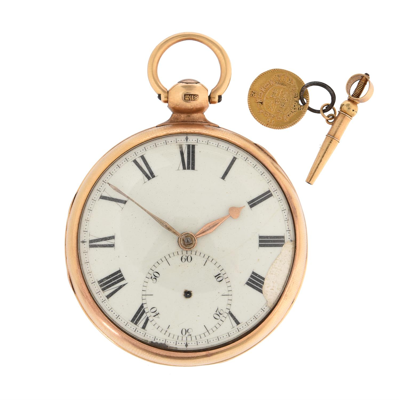 A Regency 18ct gold open-faced lever pocket watch
