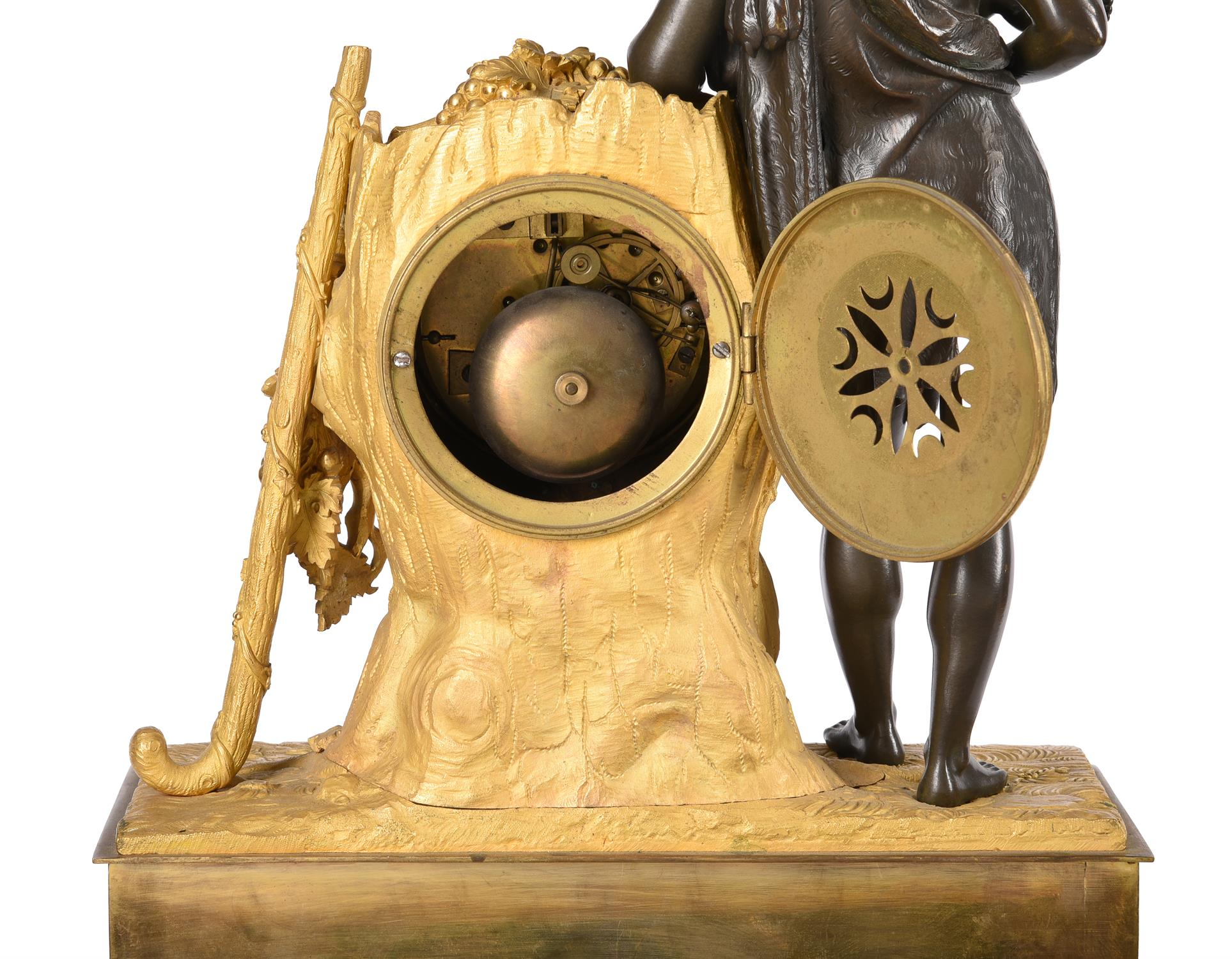 A French Empire Ormolu and patinated bronze figural mantel clock - Image 2 of 2