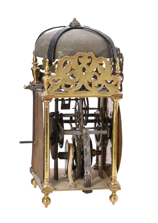 A George III brass lantern clock - Image 3 of 3
