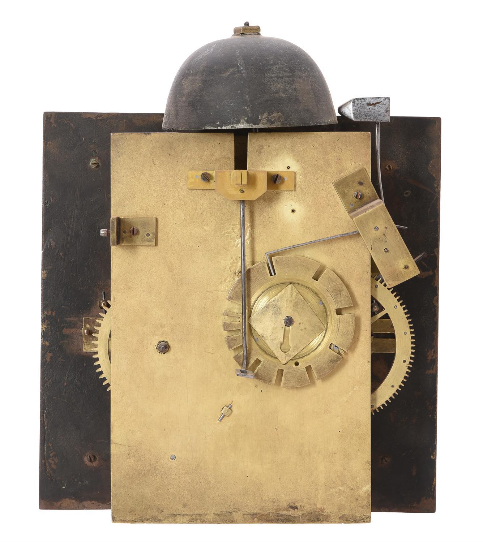 A fine and very rare Charles II walnut hooded wall clock, Nathanial Barrow - Image 5 of 5