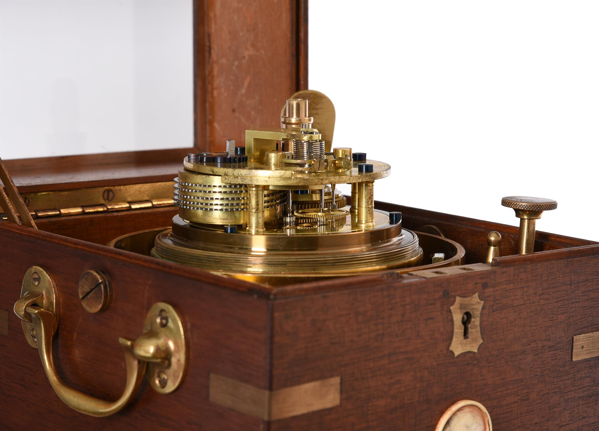 A George V mahogany two-day marine chronometer - Image 3 of 5