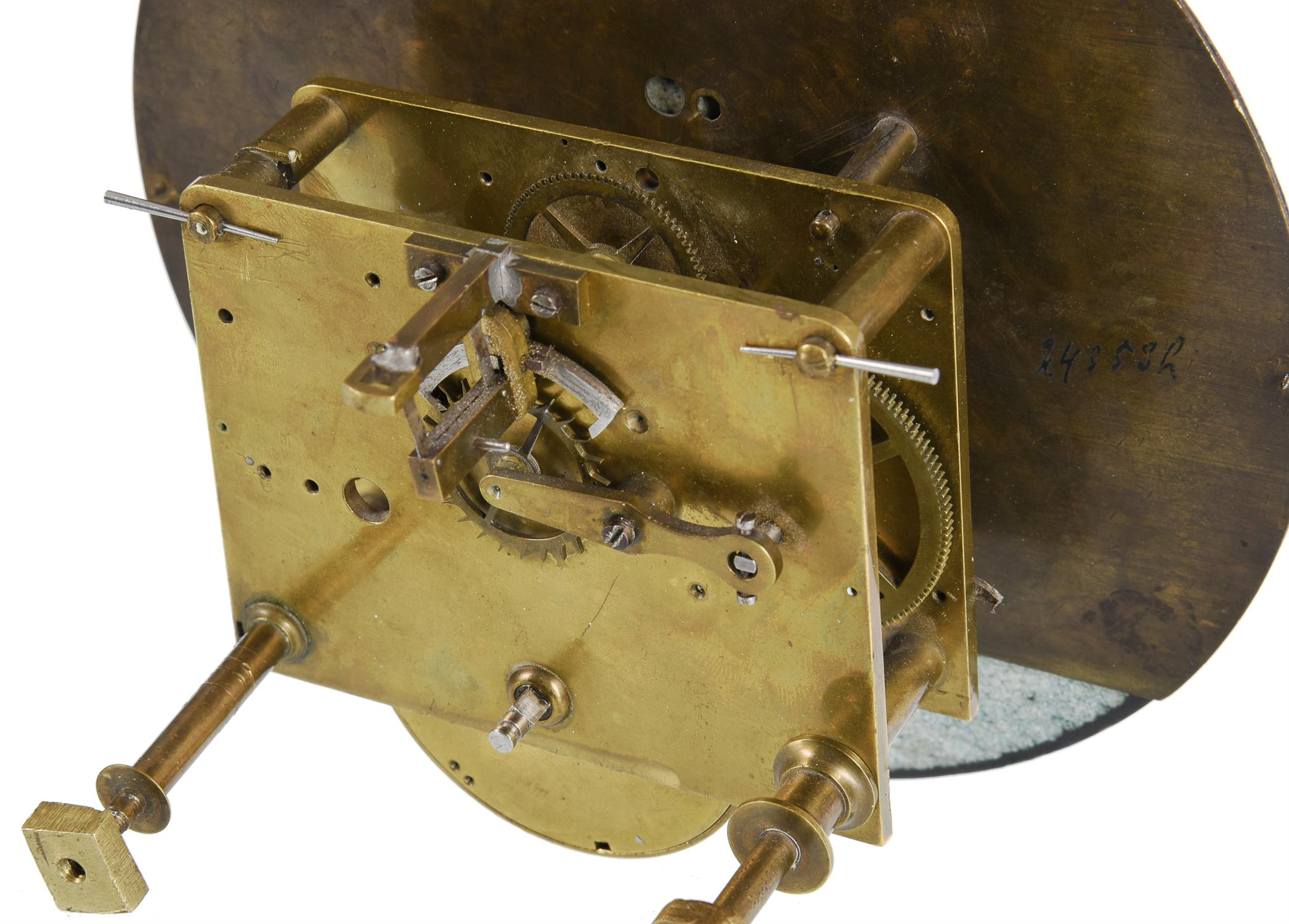 A Vienna regulator movement and dial with unusual escapement - Image 2 of 5