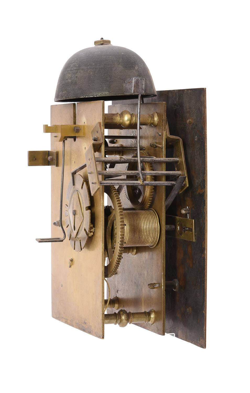 A fine and very rare Charles II walnut hooded wall clock, Nathanial Barrow - Image 3 of 5