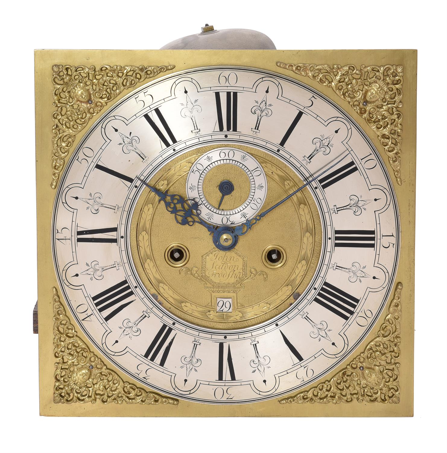 A George II parquetry inlaid oak eight-day longcase clock - Image 2 of 4
