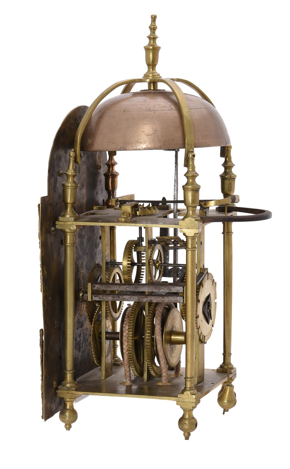 A George III brass lantern clock made for the Middle Eastern market - Image 3 of 3