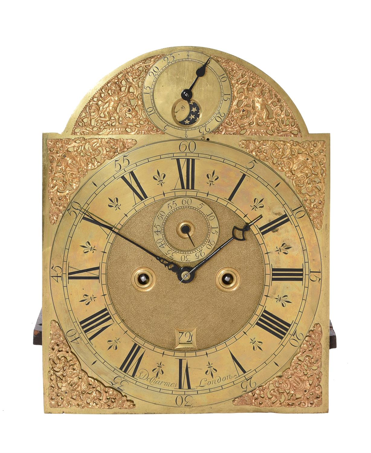 A Queen Anne walnut eight-day longcase clock with moonphase, Simon DeCharmes - Image 5 of 5