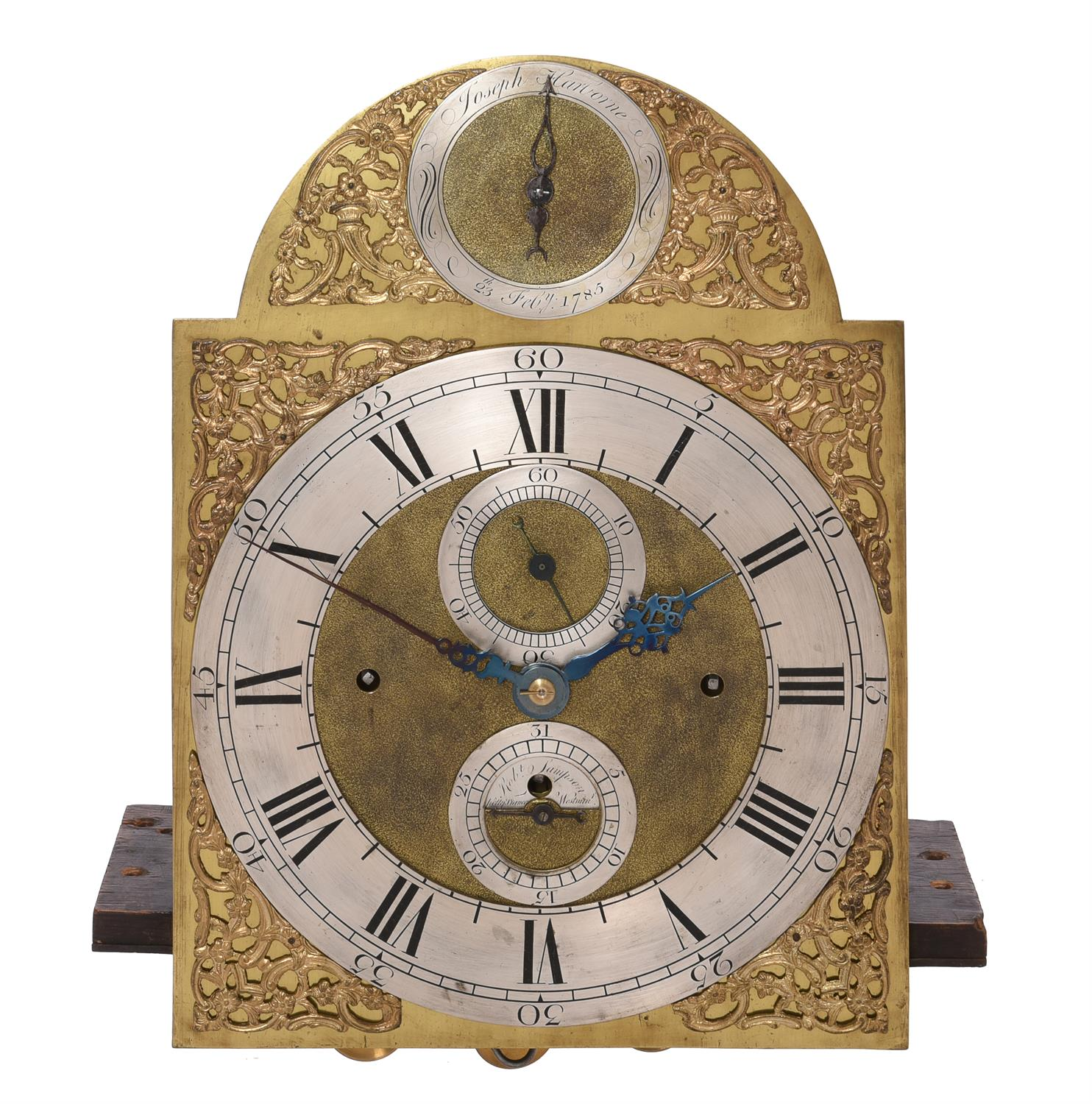 A George III mahogany eight-day quarter chiming longcase clock - Image 2 of 4