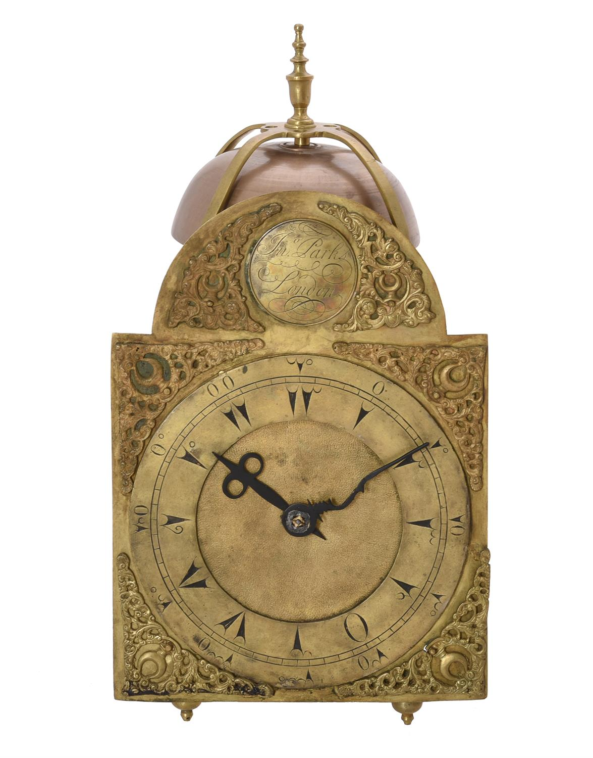 A George III brass lantern clock made for the Middle Eastern market