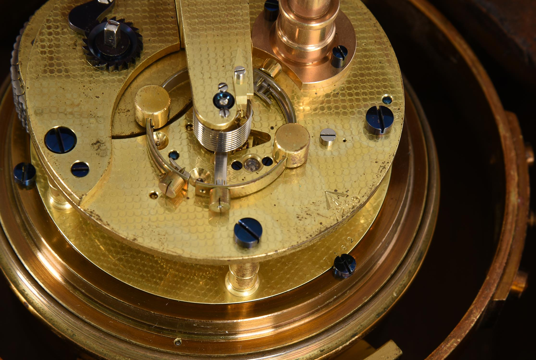A George V mahogany two-day marine chronometer - Image 4 of 5