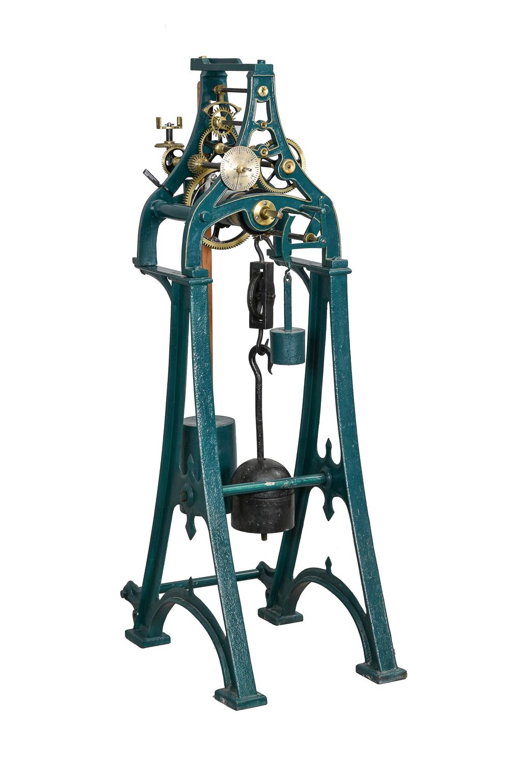 A Victorian cast iron turret timepiece formerly installed at 'The Clock House' 8 Chelsea Embankment