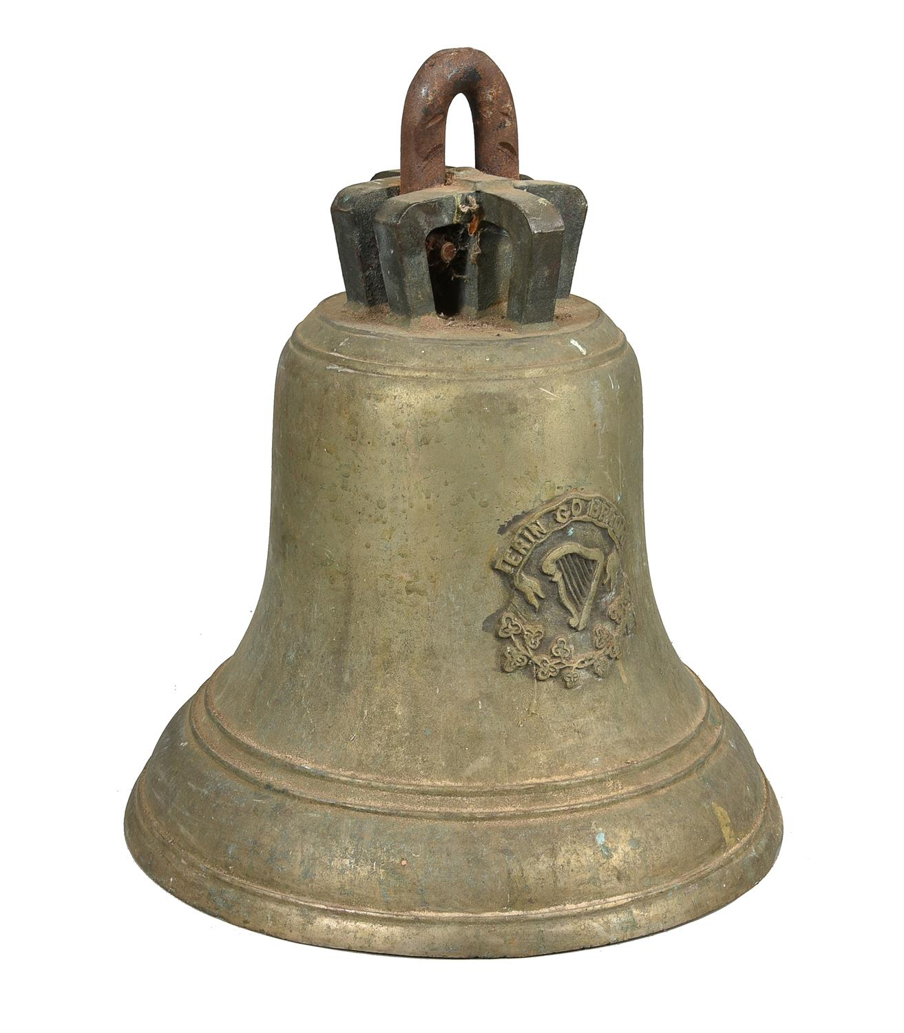 An Irish cast brass bell - Image 3 of 4