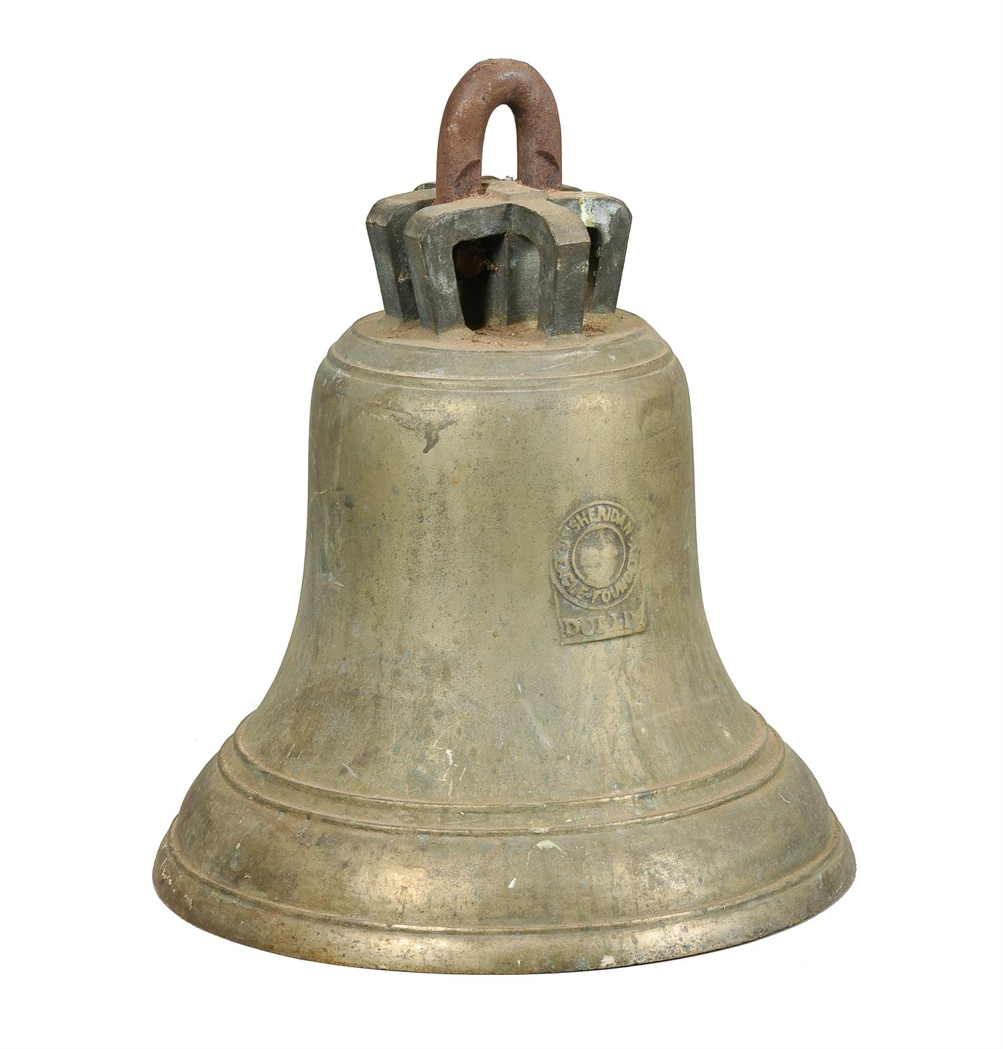 An Irish cast brass bell