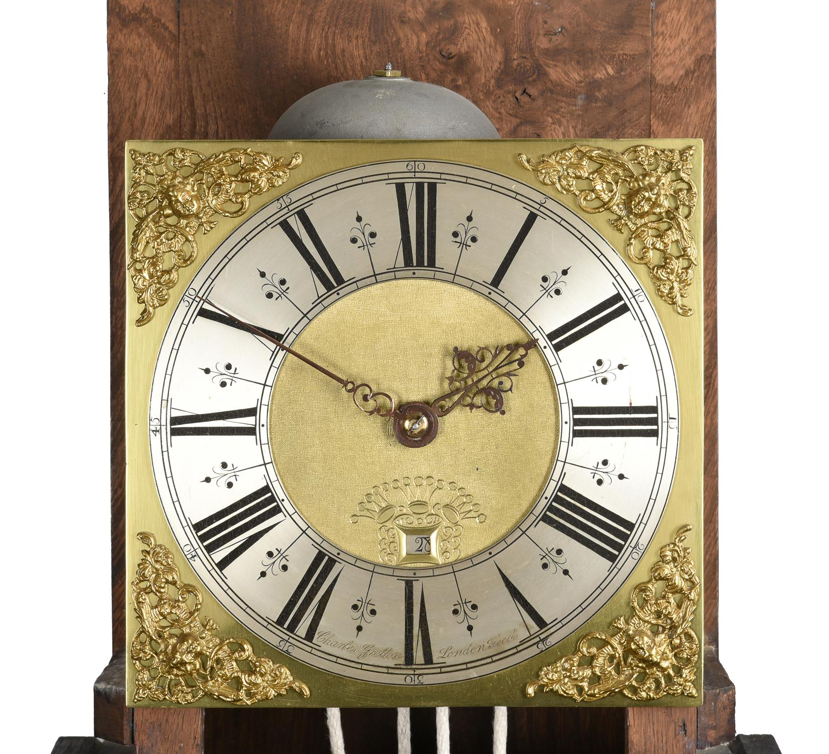 An oak cased thirty-hour longcase clock - Image 2 of 4