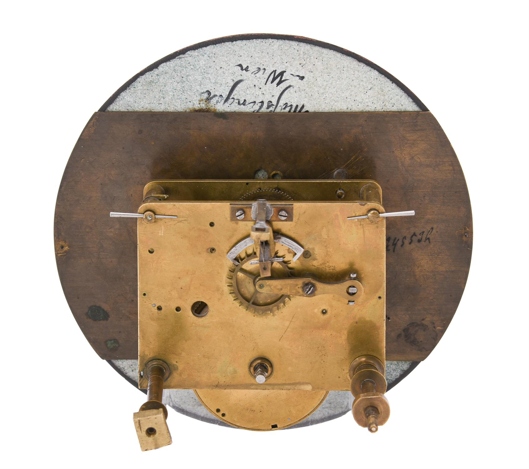 A Vienna regulator movement and dial with unusual escapement - Image 3 of 5