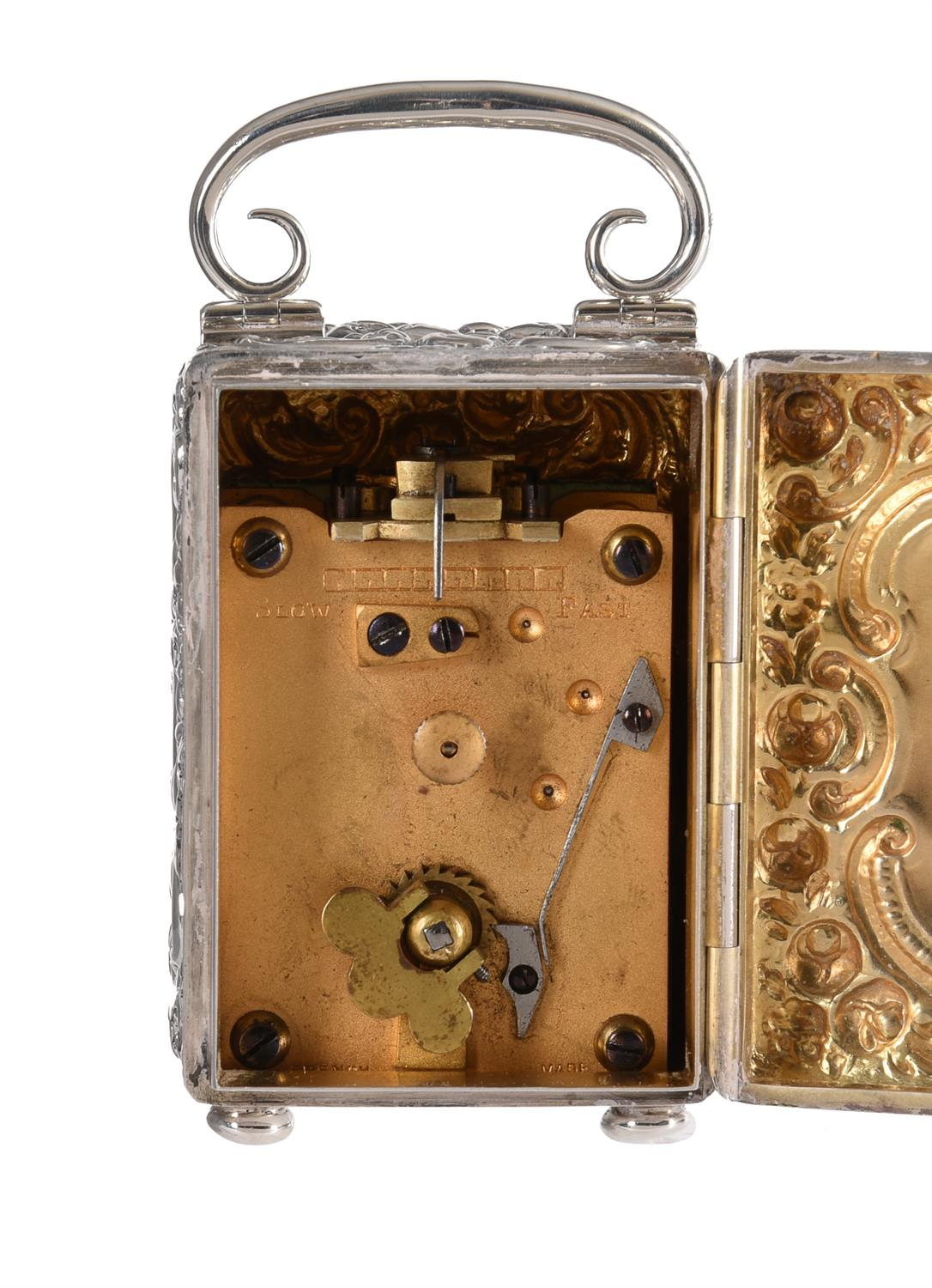 A Victorian silver cased miniature carriage timepiece - Image 3 of 6