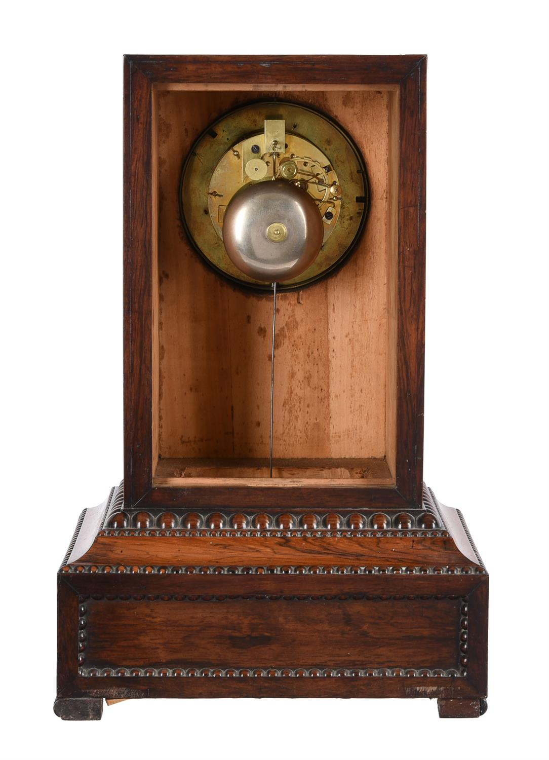 Y A French Louis Philippe rosewood mantel clock and wall bracket - Image 2 of 2