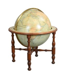 An impressive late Victorian thirty inch terrestrial library globe, W. and A.K. Johnson Limited